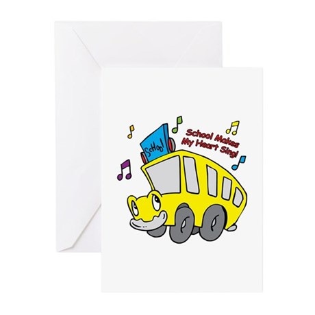 School Heart Sing Greeting Cards (Pk of 10)