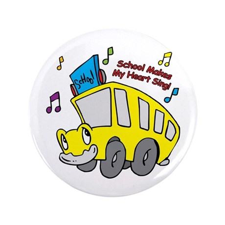 "School Heart Sing 3.5"" Button (100 pack)"