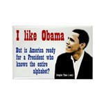 Obama Knows The Alphabet Campaign Magnet