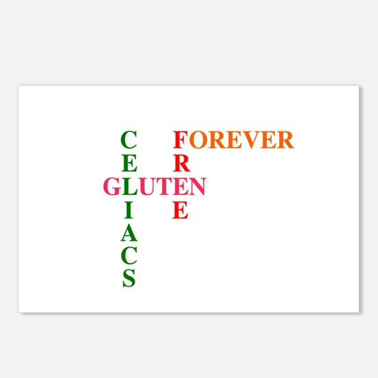 Celiacs Gluten Free Forever Postcards (Pack of 8)