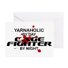 Yarnaholic Cage Fighter by Night Greeting Cards (P