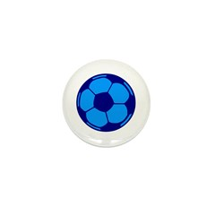 Blue Soccer Ball Mini Button (10 pack)
