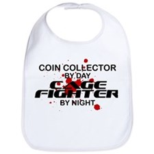 Coin Collector Cage Fighter by Night Bib