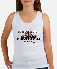 Coin Collector Cage Fighter by Night Women's Tank