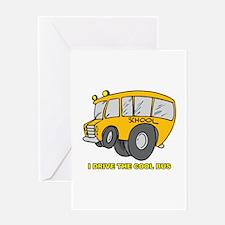 I Drive Cool Bus Greeting Card
