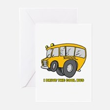 I Drive Cool Bus Greeting Cards (Pk of 20)