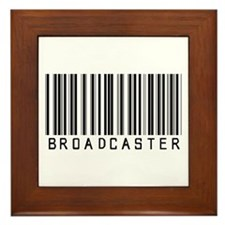 Broadcaster Barcode Framed Tile