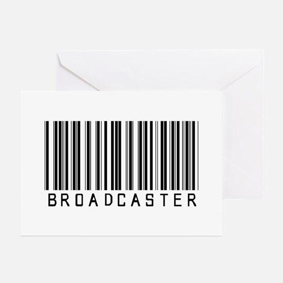 Broadcaster Barcode Greeting Cards (Pk of 20)