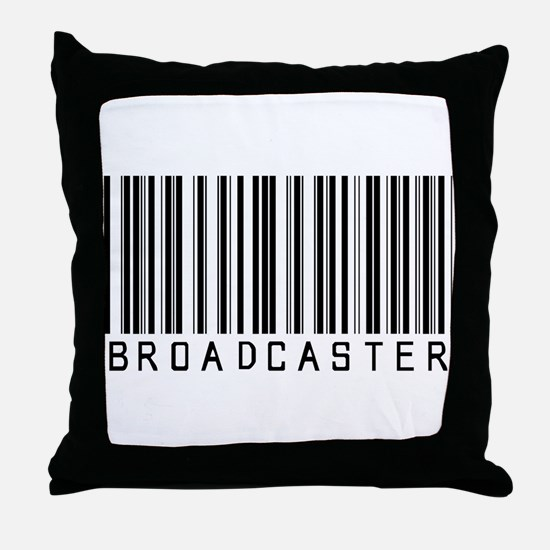 Broadcaster Barcode Throw Pillow