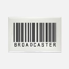 Broadcaster Barcode Rectangle Magnet