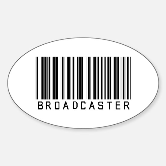 Broadcaster Barcode Oval Decal
