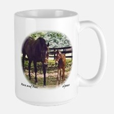 Mare and Foal, large Mug, elpace