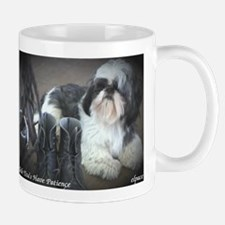 Shih Tzus Have Patience, small mug, elpace