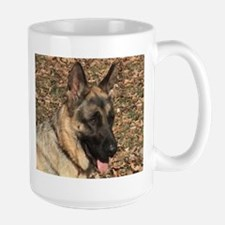 Beautiful AKC German Shepherd Large Mug, elpace