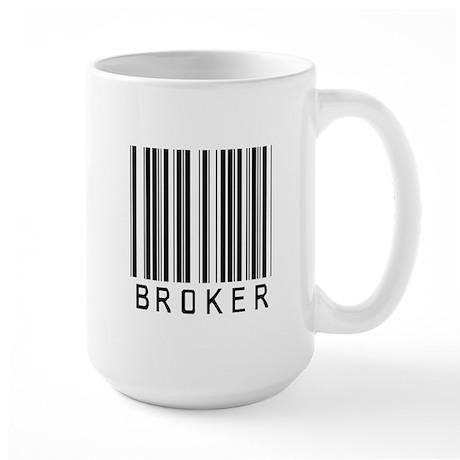 Broker Barcode Large Mug