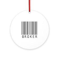 Broker Barcode Ornament (Round)