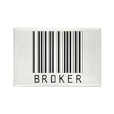 Broker Barcode Rectangle Magnet