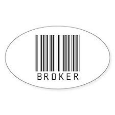 Broker Barcode Oval Decal
