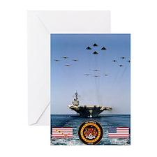 USS America CV-66 Greeting Cards (Pk of 20)