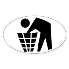 Dumpster Diving Oval Decal