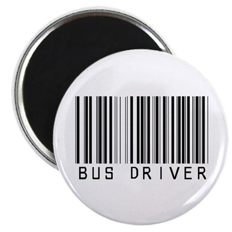 """Bus Driver Barcode 2.25"""" Magnet (10 pack)"""