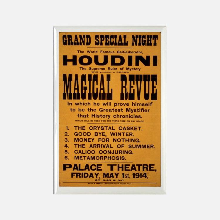 Houdini Magical Revue Rectangle Magnet