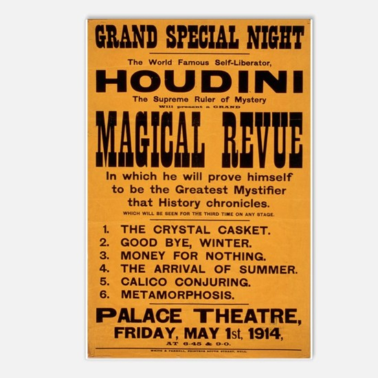 Houdini Magical Revue Postcards (Package of 8)