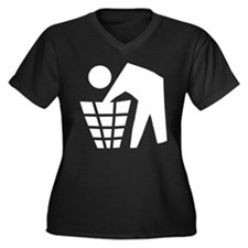 Dumpster Diving Women's Plus Size V-Neck Dark T-Sh
