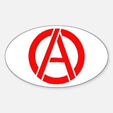 Anarchy Symbol Stencil Oval Decal