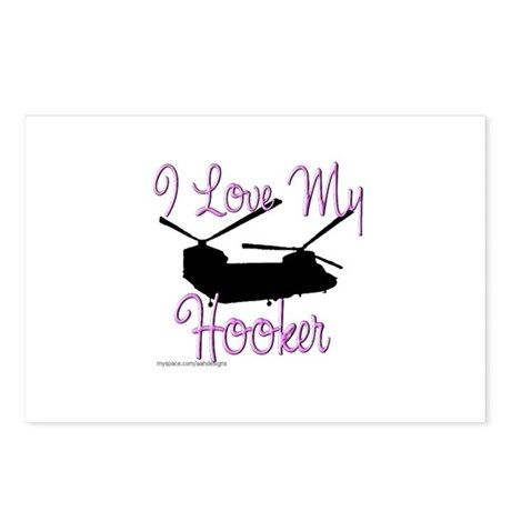 I Love My Hooker Postcards (Package of 8)