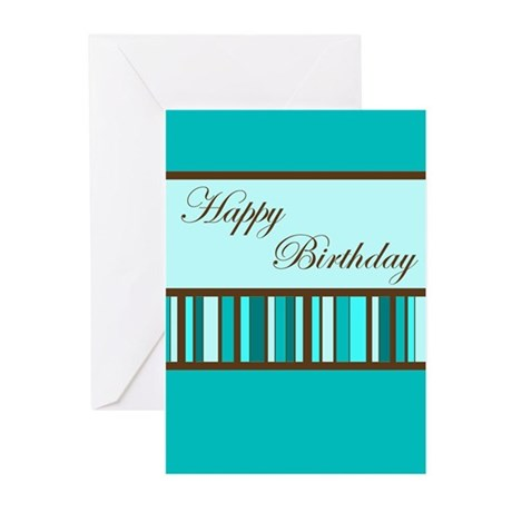 Teal Birthday Cards (Pk of 10)