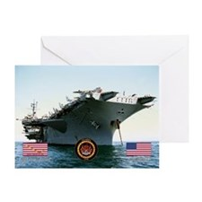 USS America CV-66 Greeting Card