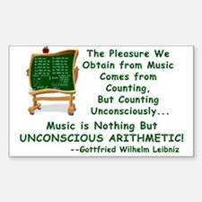 Music and Math Rectangle Decal