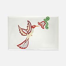 Lace Hummingbird Rectangle Magnet