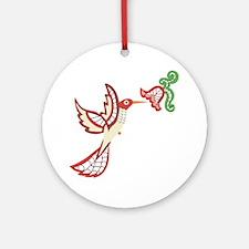 Lace Hummingbird Ornament (Round)
