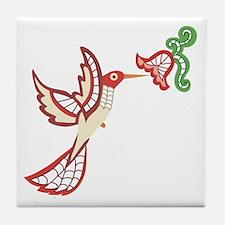 Lace Hummingbird Tile Coaster