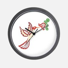 Lace Hummingbird Wall Clock