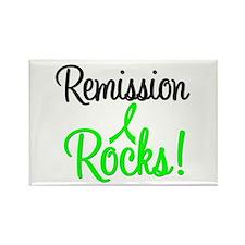 Remission Rocks Lymphoma Rectangle Magnet (10 pack
