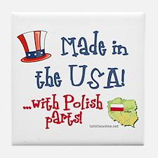Polish Parts Tile Coaster