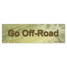 Go Off-Road, the muddy bumper sticker.