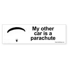 My other car is a parachute bumper sticker.