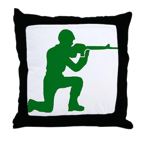 Kneeling Toy Soldier Throw Pillow