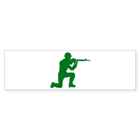 Kneeling Toy Soldier Bumper Sticker