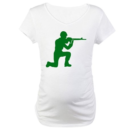 Kneeling Toy Soldier Maternity T-Shirt