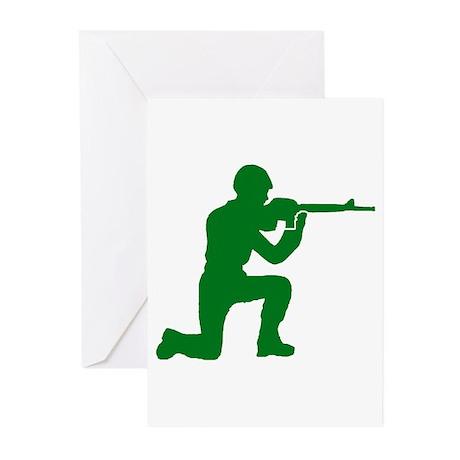 Kneeling Toy Soldier Greeting Cards (Pk of 10)