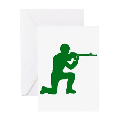 Kneeling Toy Soldier Greeting Card