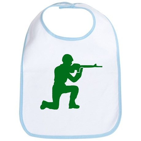 Kneeling Toy Soldier Bib
