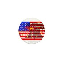 4th of July Independence Mini Button