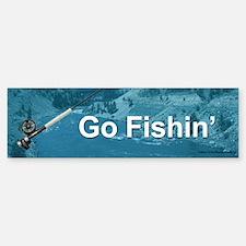 Go Fishin', The Fisherman's Bumper Bumper Bumper Sticker