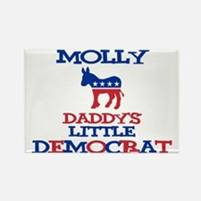 Molly - Daddy's Democrat Rectangle Magnet